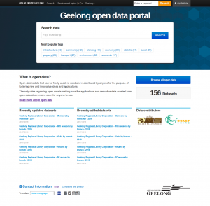 City of Greater Geelong Open Data Portal